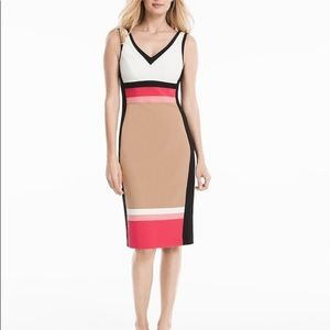 White House Black Market Colorblock Dress Size 2P